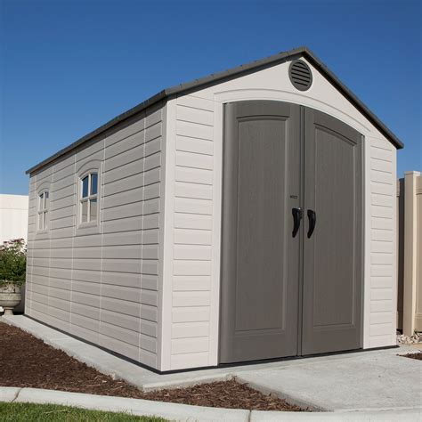 15 By 15 Shed by Lifetime 8 Ft W X 15 Ft D Plastic Storage Shed Reviews