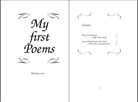 poetry booklet template poetry anthology templates tex stack exchange