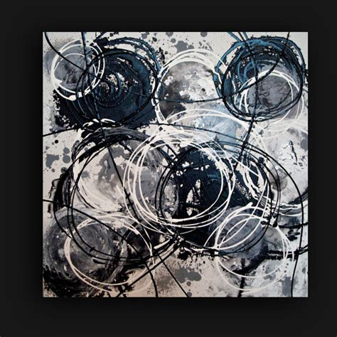 acrylic paint on black canvas acrylic painting abstract white noise black and by