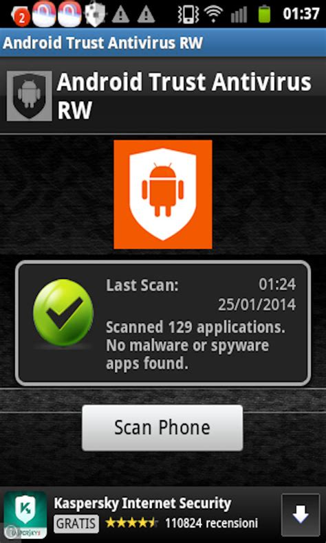 android anti virus android trust antivirus rw free android app android freeware