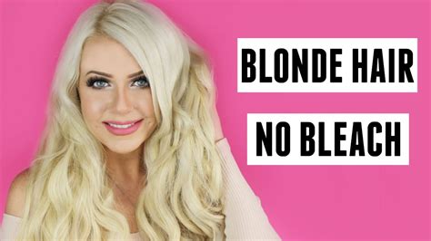 which hair dye is less damaging to hair blonde hair with no bleach tutorial diy at home no