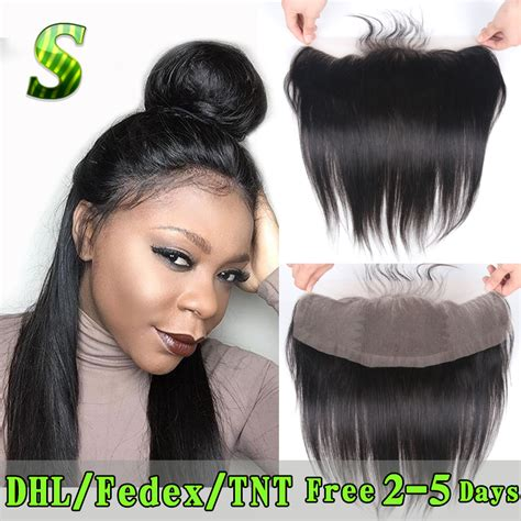 hair music full frontal brazilian lace frontal closure 13x4 straight ear to ear