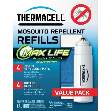 mosquito l refills thermacell mosquito repellent max refill pack l 4
