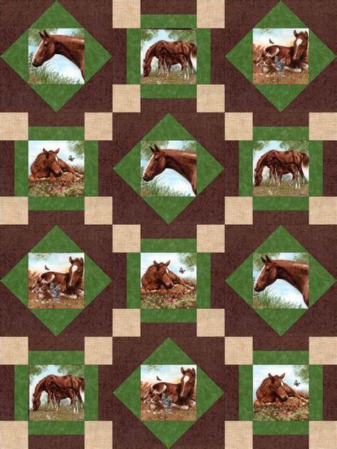 horse pattern quilt kits horse ranch stables pre cut quilt kit blocks stables