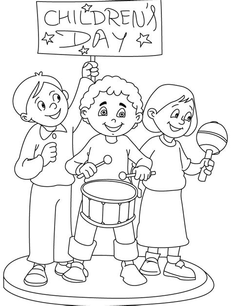 Children Coloring Page children s day coloring part 6