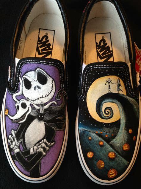 Nightmare Before Sneakers by Custom Vans Toms Shoes Disney S Nightmare Before