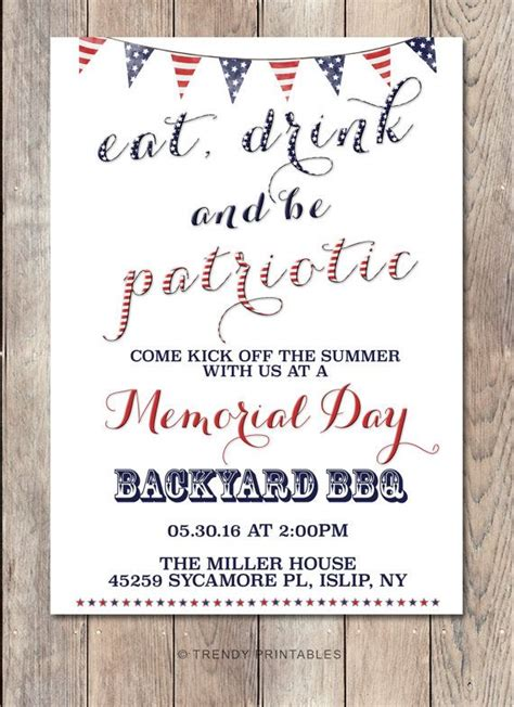 memorial day bbq flyer office templates