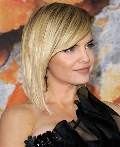 15 Latest Long Bob With Side Swept Bangs   Bob Hairstyles