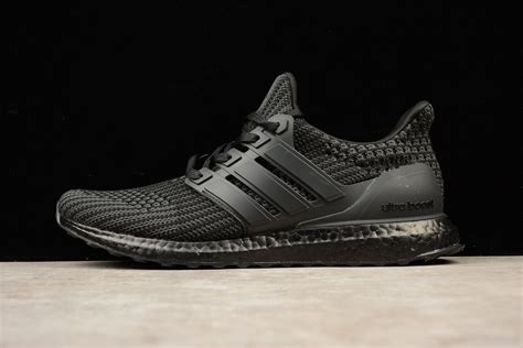 adidas ultra boost  triple black mens shoes