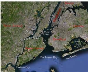 New York Harbor Map by Map Staten Island Waterfront 2012