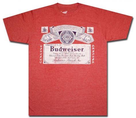t shirt budweiser ifm1 classic budweiser label comfort t shirt beertees