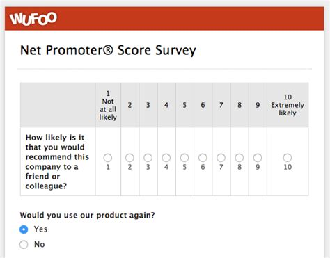 net promoter score survey template wufoo 183 top 5 customer feedback and satisfaction form