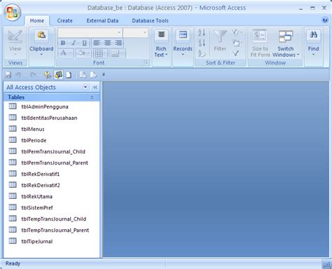 dalam membuat query objects yang utama contoh sederhana aplikasi back end dan front end database