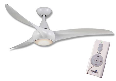 minka aire f844 wh light wave 52 quot ceiling fan w remote