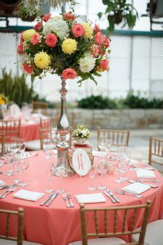 coral colored table ls coral wedding decor on coral weddings coral