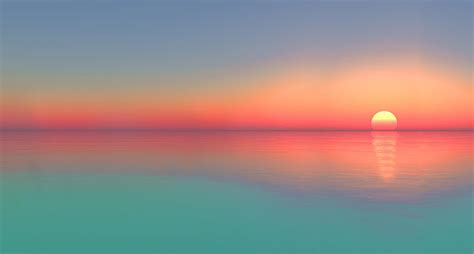 Pink And Turquoise Sunset Mural   Sunsets and Beaches