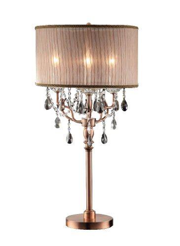 Ok Lighting Ok 5126t Rosie Crystal Table L In Rose Gold | ok 5126t 35 inch rosie crystal table l table l store