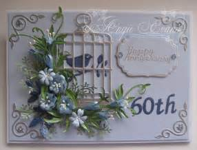 flowers 60th wedding anniversary card
