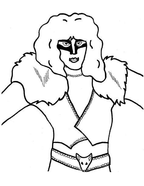 coloring pictures of the band kiss coloring pages
