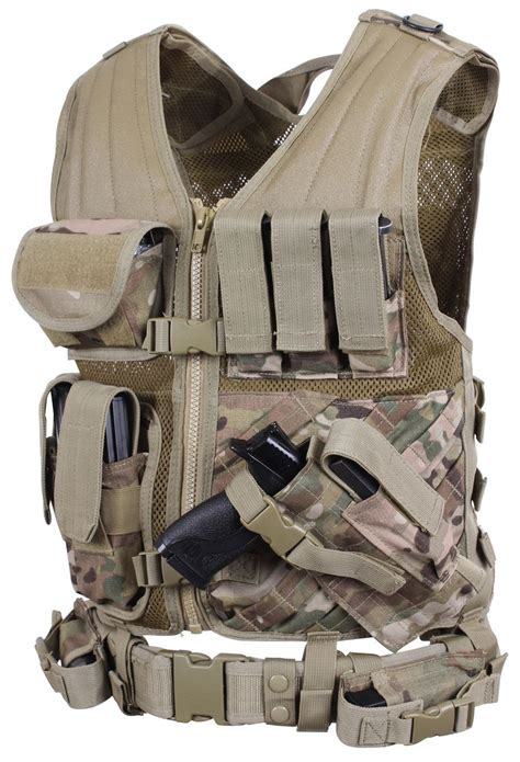 cross draw molle tactical vest multicam rothco tactical vest tactical gear and guns