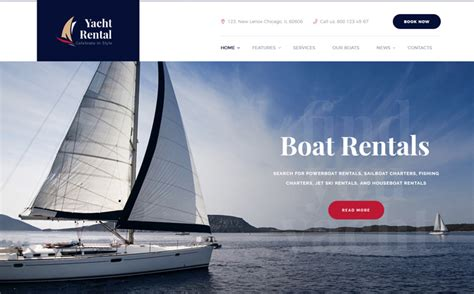 yacht and boat rental service theme nulled plantillas o themes para deportes clubs y