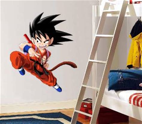 dragon ball z wall decal removable wall sticker mural goku kid goku dragon ball z decal removable wall sticker home