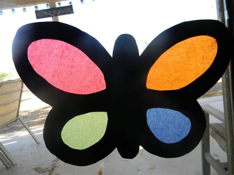 Construction Paper Butterfly Craft - simply crafty stained glass butterflies