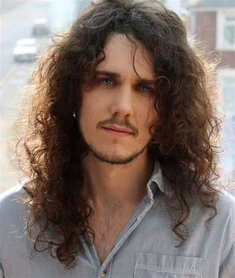middle parting hair mens long curly hairstyles and haircuts guide for men long