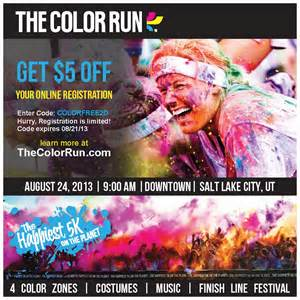 color vibe promo code 5 coupon code for the color run in august 10
