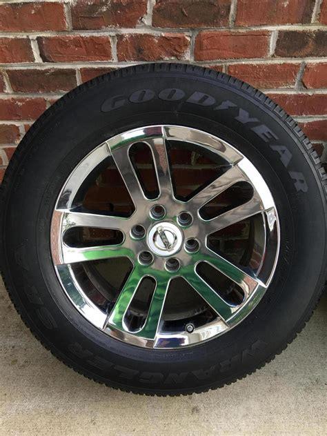 Wheels Nissan Titan nissan titan armada 20 quot oem chrome wheels nissan titan forum