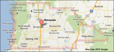 map of brooksville florida protected areas of hernando county florida