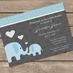 baby shower elephant invitations