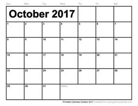 October Calendar October 2017 Calendar Excel Weekly Calendar Template