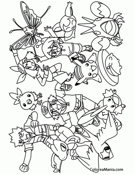 pokemon johto coloring pages colorear grupo pokemon pokemon dibujo para colorear gratis