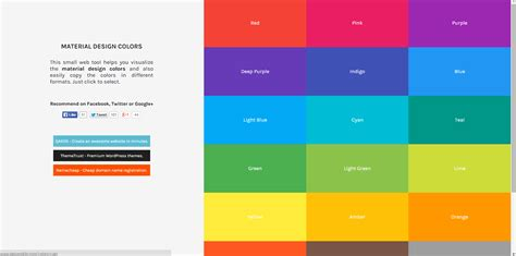 matrial color 12 fresh color resources for designers