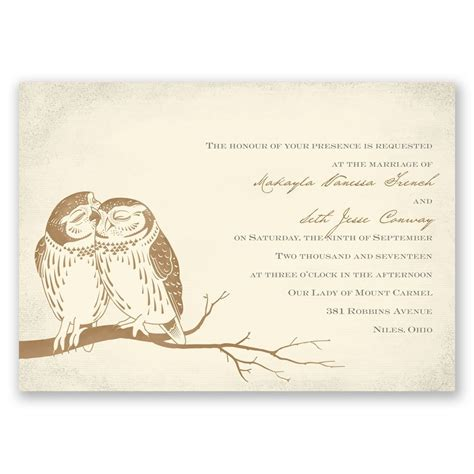owl be yours invitation invitations by