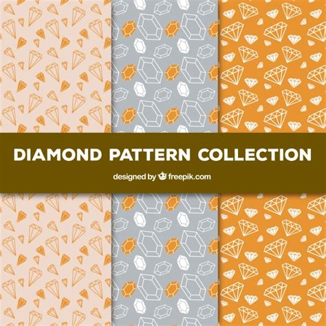diamond pattern vector ai collection of hand drawn diamond patterns vector free
