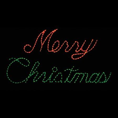 32 inch red and green led merry christmas sign 32 in outdoor led and green merry sign lighted display 300 bulbs