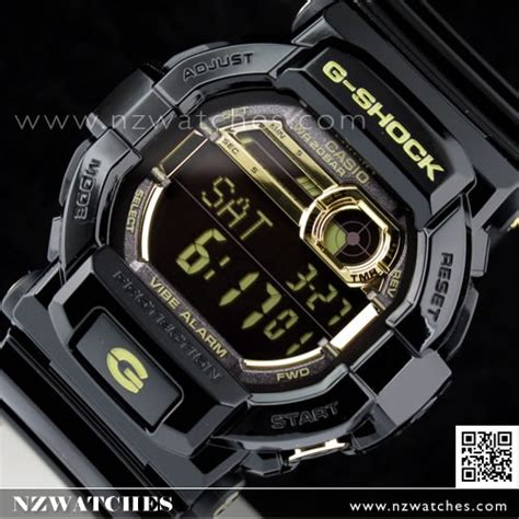 Casio G Shock Gd350 Black Blue buy casio g shock vibration alert garish black gold