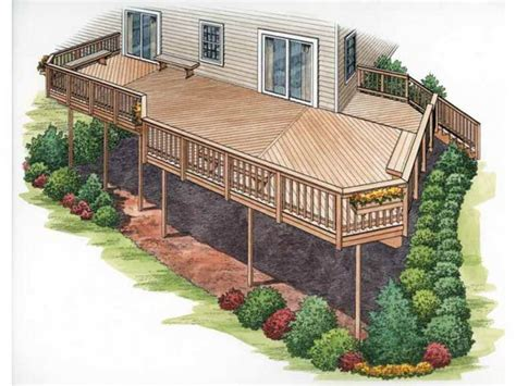split level deck plans house plans with second story deck outdoor house plans