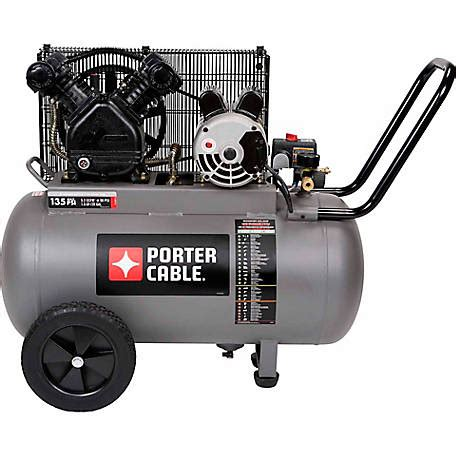 porter cable 20 gallon portable belt drive air compressor at tractor supply co