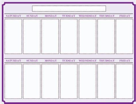 printable calendar without weekends weekly blank calendar template 2 calendar pinterest