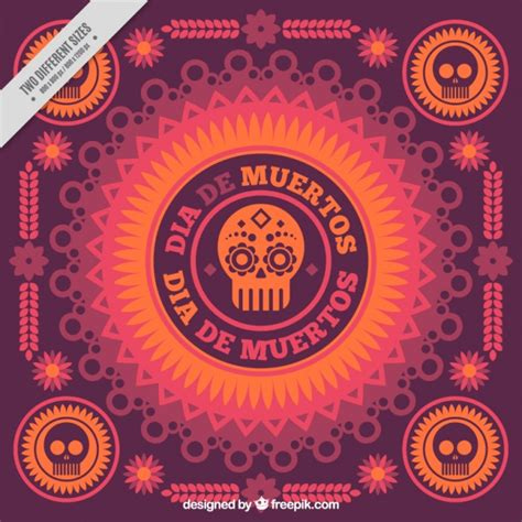 day of the dead background day of the dead ornamental background vector free