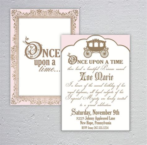 elegant once upon a time birthday or baby shower by