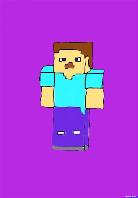 minecraft how to a how to draw steve minecraft step by step characters pop culture free