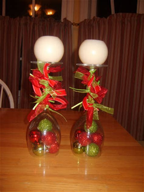 it s a good day christmas decor wine glass candlesticks