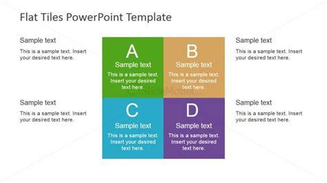 Four Quadrants Multi Coloured Tiles For Powerpoint Squares Powerpoint Template 2