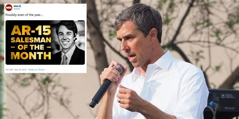 beto orourke called ar  salesman   month  nra