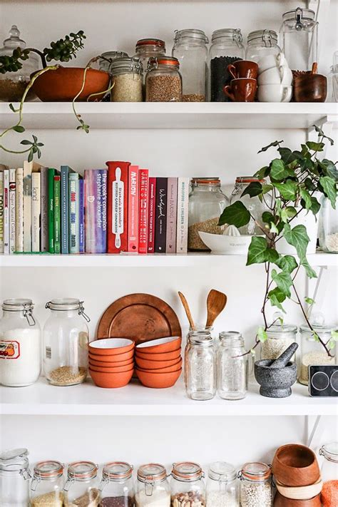 Kitchen Shelf by Tips For Styling Shelves Apartment Apothecary