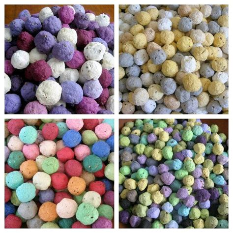 Make Your Own Seed Paper - seed bombs pdf tutorial how to make your own plantable